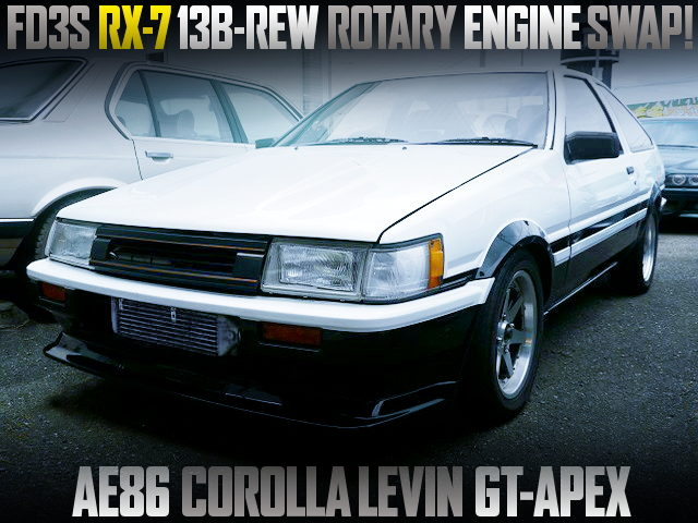 13B-REW ROTARY SWAPPED AE86 COROLLA LEVIN GT APEX FOR PANDA COLOR