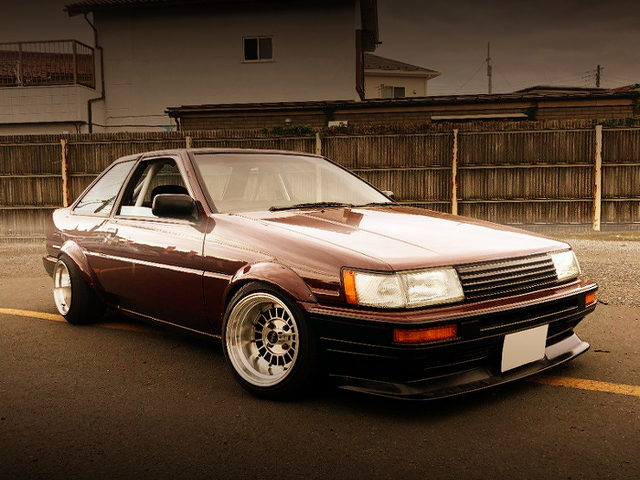 FRONT EXTERIOR OF AE86 COROLLA LEVIN