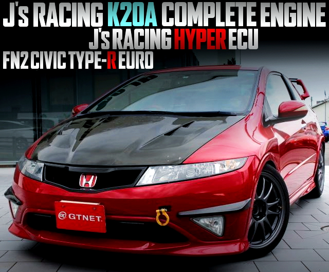 Js RACING K20A ENGINE with HYPER ECU OF FN2 CIVIC TYPE-R EURO