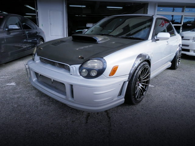 FRONT EXTERIOR OF GDB BUG EYE WRX STI WITH SILVER