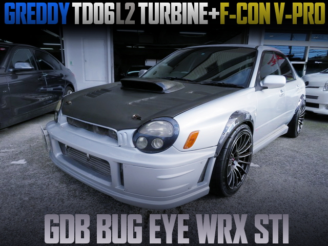 TD06L2 TURBO AND F-CON V-PRO WITH GDB BUG EYE WRX STI