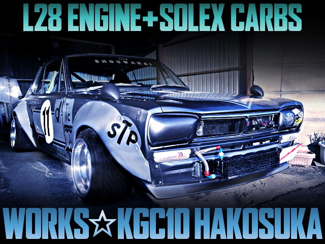 L28 with Solex CARBS INTO KGC10 HAKOSUKA WORKS WIDEBODY
