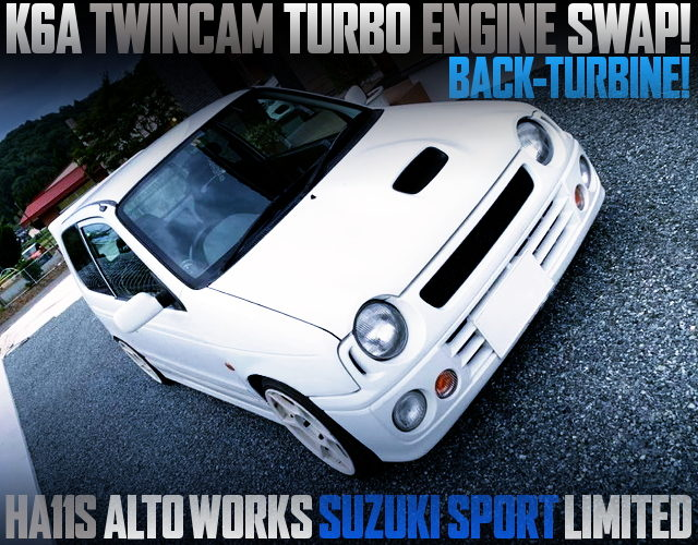 K6A TWINCAM TURBO SWAPPED HA11S ALTOWORKS SUZUKI SPORT LIMITED