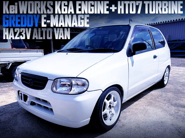 KeiWORKS K6A ENGINE WITH HT07 TURBO AND E-MANAGE OF HA23V ALTO VAN