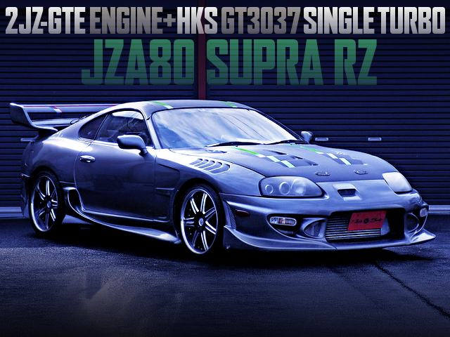 2JZ-GTE With GT3037 SINGLE TURBO INTO A JZA80 SUPRA RZ