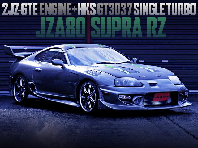 2JZ-GTE With GT3037 SINGLE TURBO INTO A JZA80 SUPRA RZ