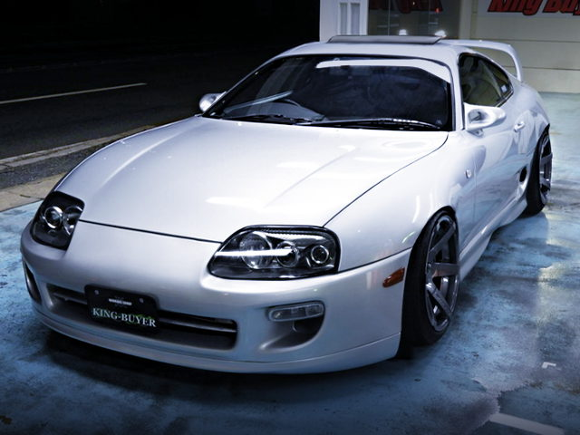 FRONT EXTERIOR TO JZA80 SUPRA RZ WITH SILVER