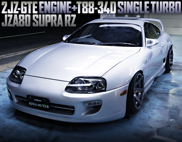 2JZ T88-34D SINGLE TURBO WITH JZA80 SUPRA RZ