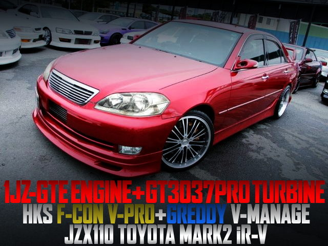 GT3037PRO TURBO With F-CON V-PRO AND V-MANAGE OF JZX110 MARK2 iRV