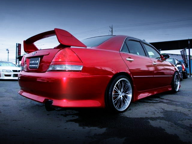 REAR EXTERIOR JZX110 MARK2 iRV WITH METALLIC RED