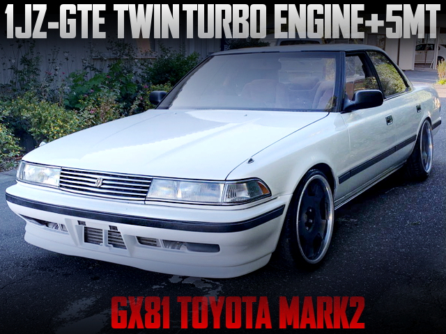 1JZ-GTE TWINTURBO AND 5MT SWAPPED GX81 MARK2