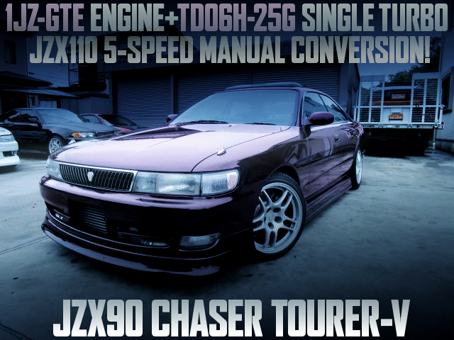TD06H SINGLE TURBO AND JZX110 5MT WITH JZX90 CHASER TOURER-V MIDNIGHT PURPLE