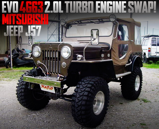 EVO 4G63 TURBO ENGINE SWAPPED MITSUBISHI JEEP J57