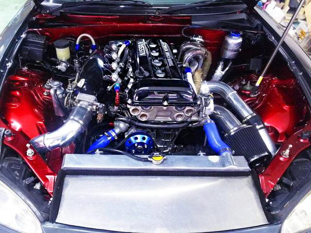 SR20DET TURBO ENGINE FOR NB8C ROADSTER ENGINE ROOM