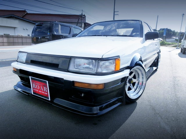 FRONT EXTERIOR OF AE86 LEVIN GT APEX