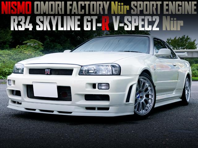 NISMO OMORI FACTORY NUR SPORT ENGINE INTO A R34 GT-R V-SPEC NUR