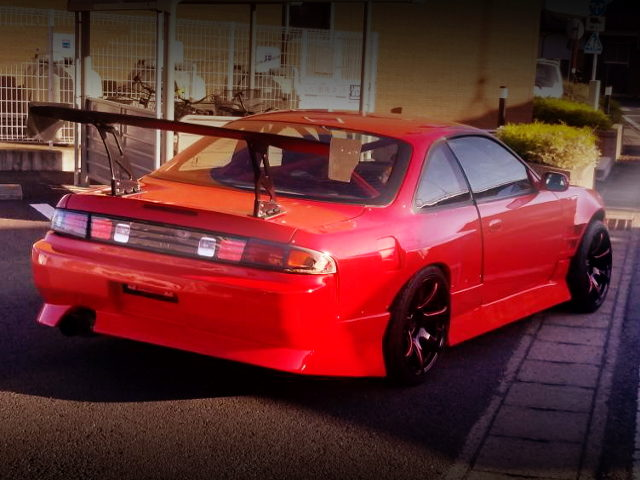 REAR EXTERIOR S14 SILVIA OF RED