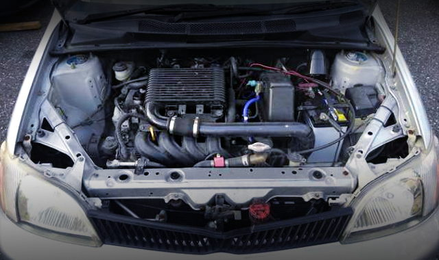 1NZ TURBO ENGINE INTO A PLATZ ENGINE ROOM