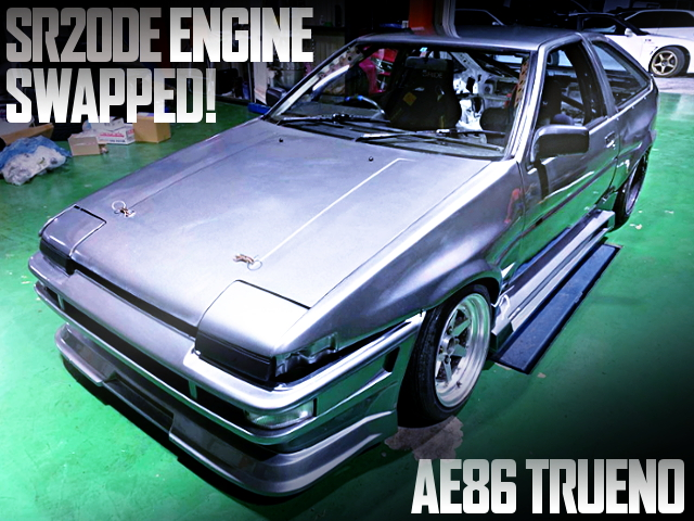 SR20DE ENGINE AND 5MT INTO A AE86 TRUENO WIDEBODY