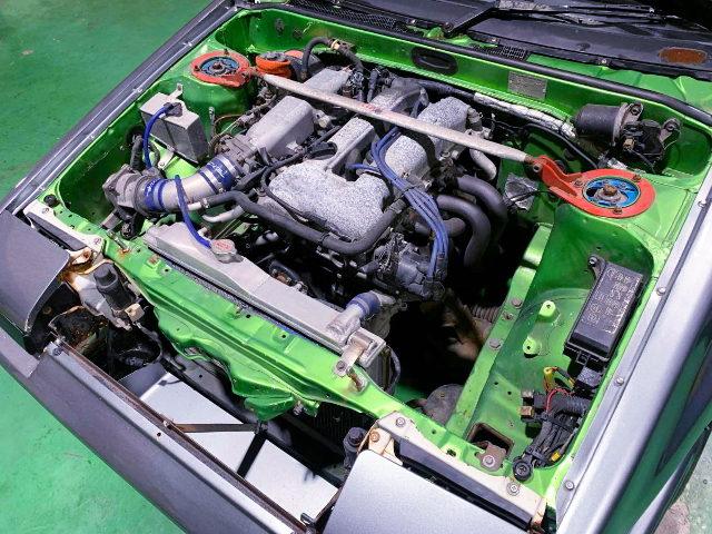 NISSAN SR20DE 2000cc ENGINE SWAPPED TO AE86 ENGINE ROOM