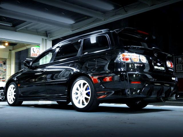 REAR EXTERIOR ST215W CALDINA GT-T BLACK