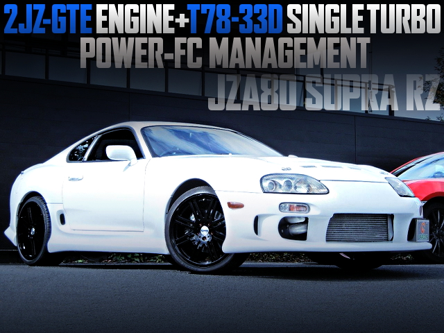 T78-33D SINGLE TURBO AND POWER-FC WITH JZA80 SUPRA RZ