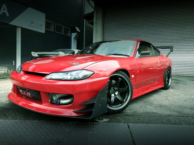 FRONT EXTERIOR OF S15 SILVIA SPEC-R RED