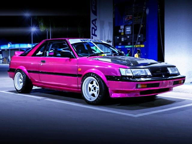 FRONT EXTERIOR OF B12 NISSAN SUNNY RZ-1 PURPLE