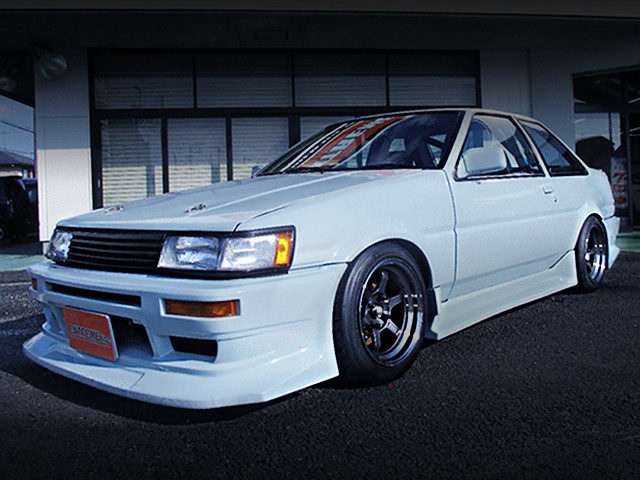 FRONT EXTERIOR AE86 COROLLA LEVIN TO LIGHT BLUE