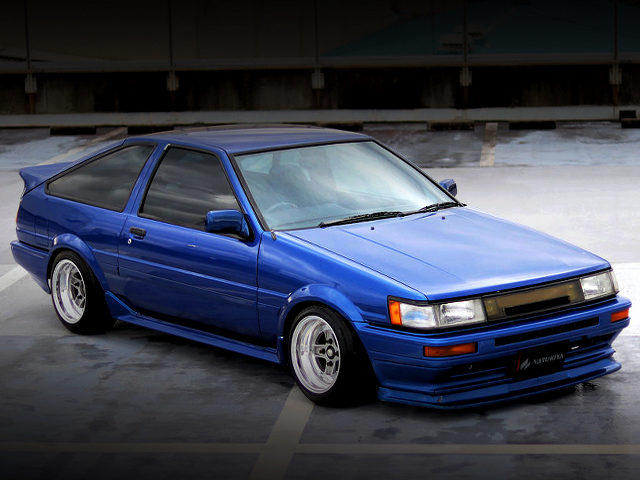 FRONT EXTERIOR AE86 LEVIN GTV WITH BLUE