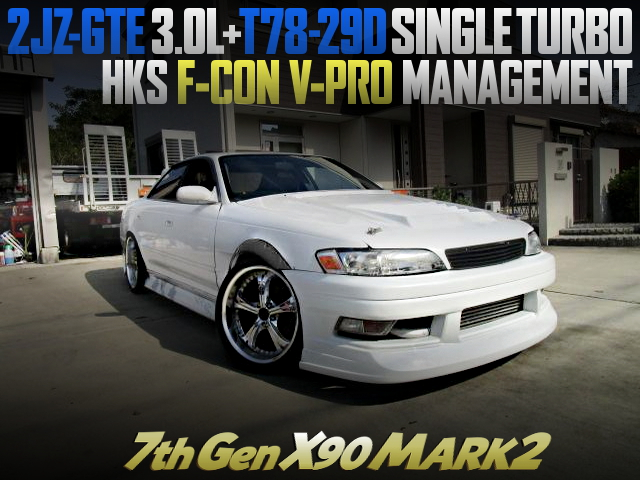 2JZ-GTE WITH T78-29D SINGLE TURBO SWAPEED 7th Gen X90 MARK2