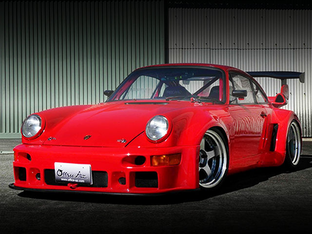 FRONT EXTERIOR OF PORSCHE 930 WIDEBODY TO RED COLOR