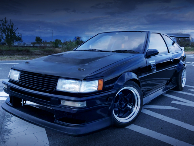 FRONT EXTERIOR AE86 LEVIN HATCH WIDFEBODY