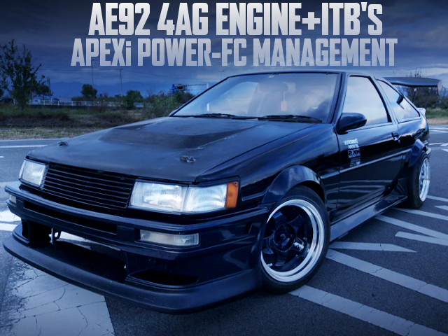 AE92 KOUKI 4AG WITH ITBs AND POWER-FC INTO AE86 LEVIN TO WIDEBODY