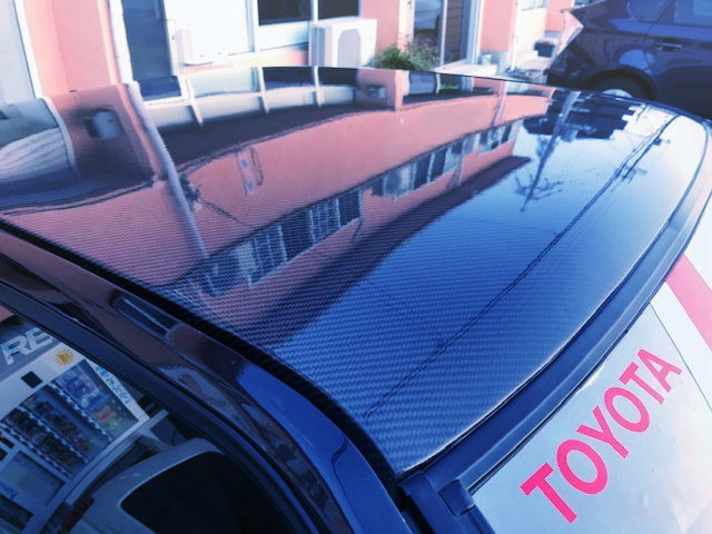 CARBON ROOF TO AE86 TRUENO