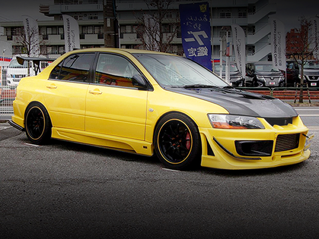 FRONT EXTERIOR OF LANCER EVOLUTION 9GT TO YELLOW
