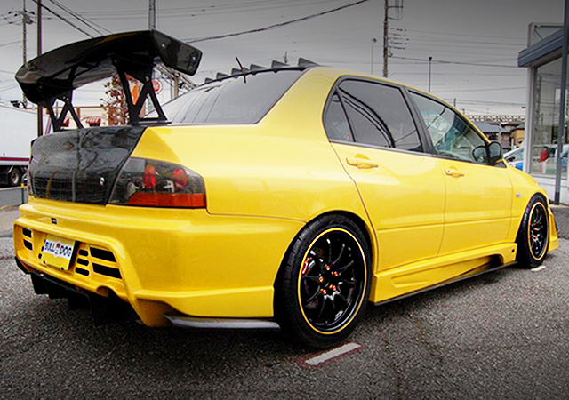 REAR EXTERIOR LANCER EVO9 GT TO YELLOW
