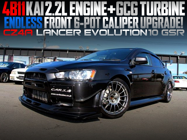 4B11 220cc With GCG TURBO INTO A CZ4A LANCER EVOLUTION 10 GSR