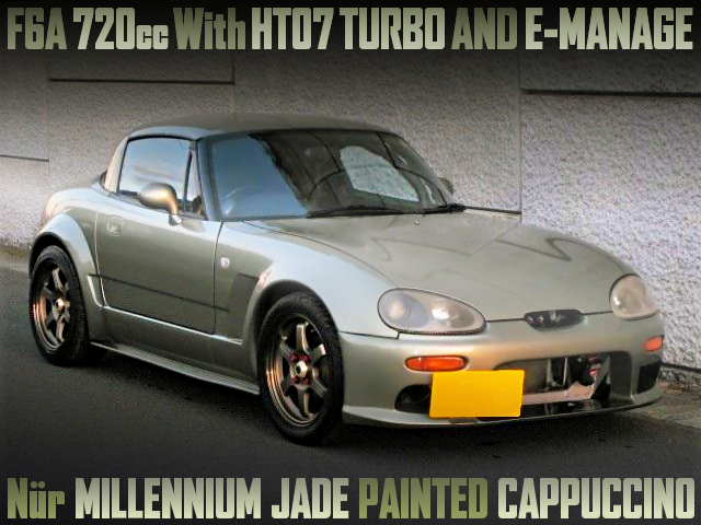 F6A 720cc With HT07 TURBO AND MILLENNIUM JADE PAINT OF EA11R CAPPUCCINO