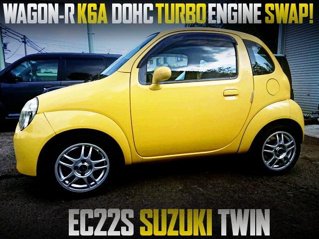 K6A TWINCAM TURBO SWAPPED EC22S SUZUKI TWIN With YELLOW