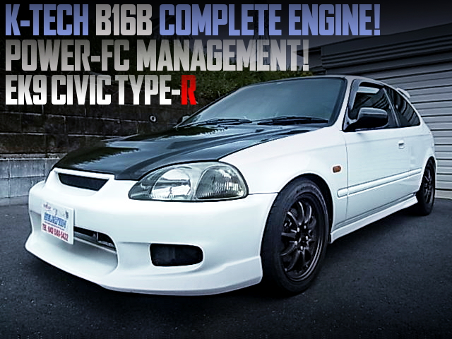 K-TECH B16B COMPLETE ENGINE INSTALLED EK9 CIVIC TYPE-R