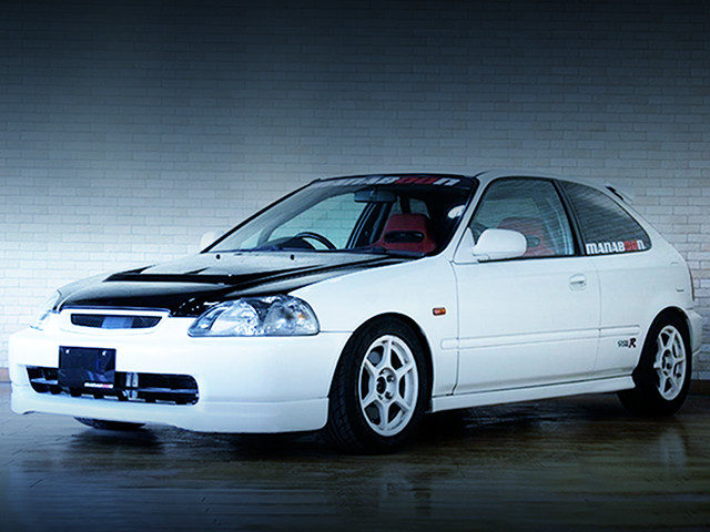 FRONT EXTERIOR EK9 CIVIC TYPE-R TO CHAMPIONSHIP WHITE