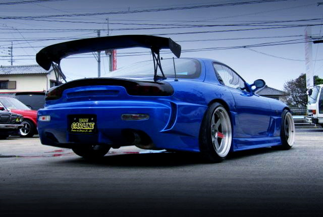REAR EXTERIOR FD3S RX-7 TO BLUE METALLIC
