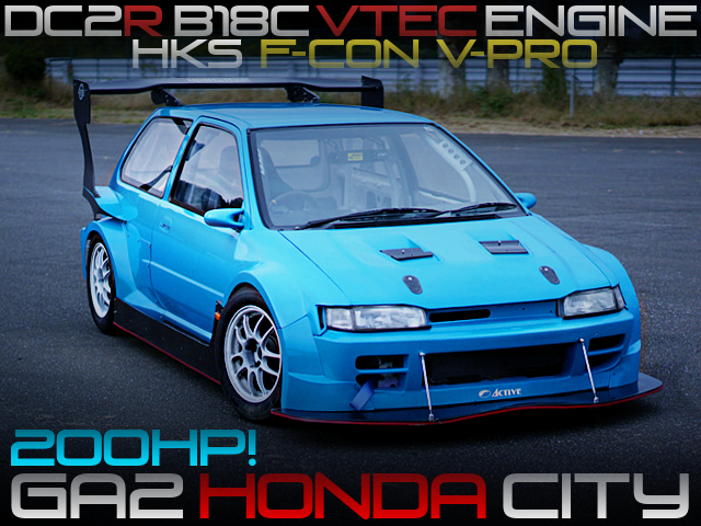 DC2R B18C VTEC ENGINE SWAP TO GA2 HONDA CITY WIDEBODY
