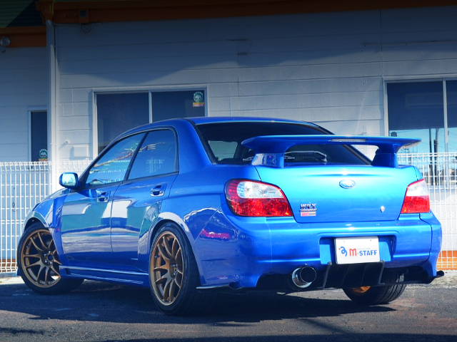 REAR EXTERIOR OF GDB WRX STI TO WR BLUE