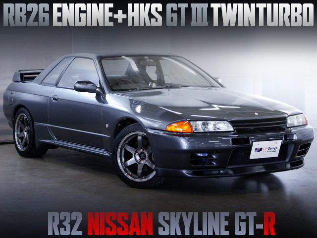 RB26 WITH HKS GT3 TWINTURBO INTO A R32 SKYLINE GT-R GUN METALLIC