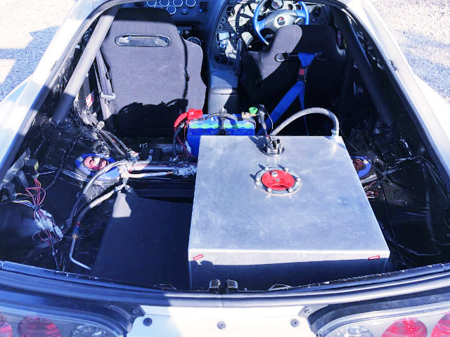 FUEL SAFETY CELL AT SUPRA REAR TRUNK ROOM
