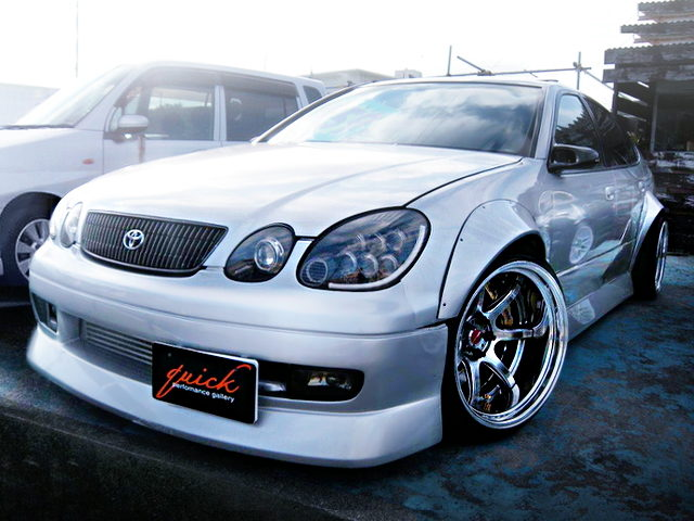 FRONT EXTERIOR JZS161 ARISTO WIDE ARCHES WIDEBODY