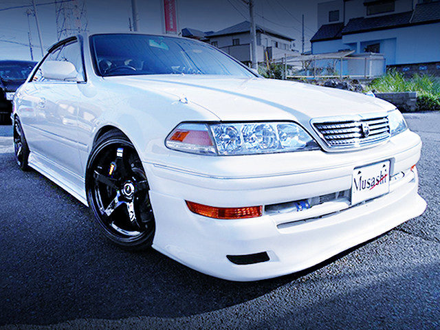 FRONT EXTERIOR OF JZX100 MARK2 TOURER-V TO WHITE