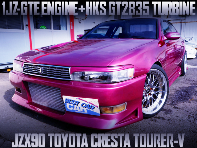 1JZ-GTE With GT2835 TURBO INTO JZX90 CRESTA TOURER-V TO VITZ PURPLE PAINT